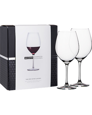 Bar Station Platinum Red Wine Glasses 2 Pack Other Drinks pack (2)