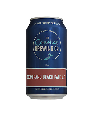 The Coastal Brewing Company Boomerang Beach Pale Ale Beer 375mL case of 24