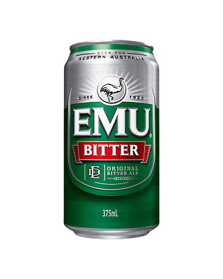 Emu Bitter Cans 30 Block 375mL Beer case of 30