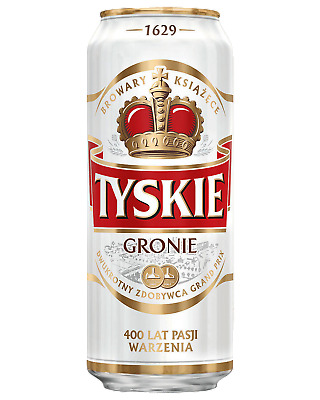 Tyskie Premium Lager 500mL Beer Can case of 24