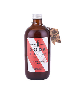Soda Press Co Raspberry and Mint  (Organic Soda & Mixing Syrup) 500mL Other Drin