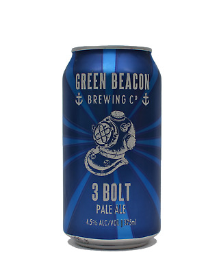 Green Beacon Brewing Co 3 Bolt Pale Ale Cans 375mL Beer case of 24