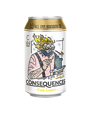 All Inn Brewing Consequences Pale Lager Beer 375mL case of 24
