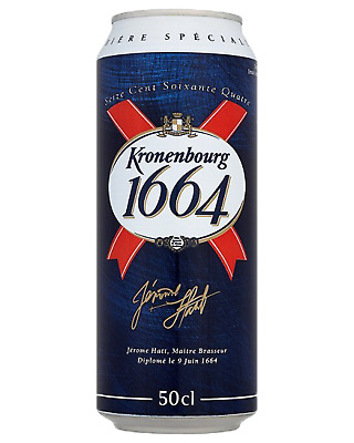 Kronenbourg 1664 French Lager Cans 500mL Beer case of 24