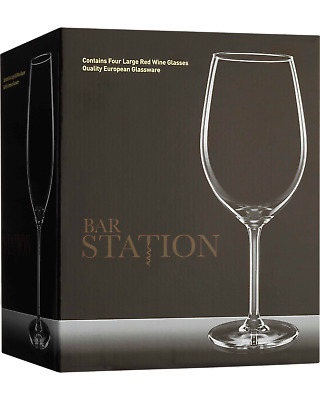 Bar Station Large Red Wine Glasses 4 Pack Other Drinks pack of 4