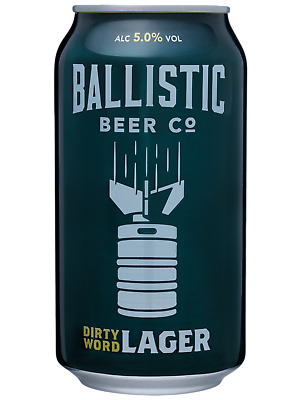 Ballistic Beer Co.tDirty Word Lager 375mL case of 24