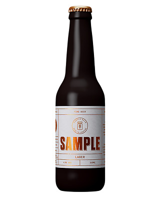 Sample Brew Lager Beer Crown 330mL case of 24