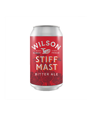Wilson Brewing Stiff Mast Bitter Ale Cans 375mL Beer case of 24