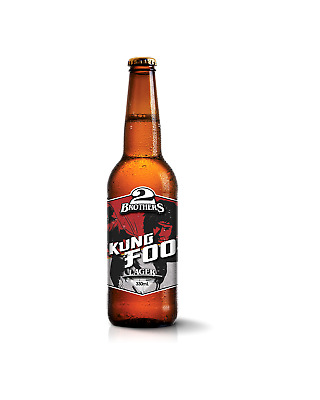 2 Brothers Brewery Kung Foo Lager Beer 330mL case of 24