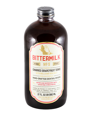 Bittermilk No 5 Charred Grapefruit Tonic Syrup 502mL Other Drinks bottle