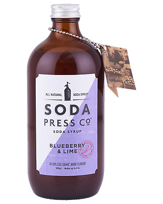 Soda Press Co Blueberry and Lime (Organic Soda & Mixing Syrup) 500mL Other Drink