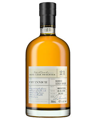 Cruinnich 21 Year Old Rare Cask Reserve Blended Scotch Whisky 700mL case of 3