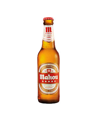 Mahou Mahou 5 Star Beer Bottles 355mL Crown case of 24