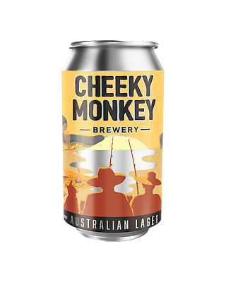Cheeky Monkey Brewery Australian Lager Cans 375mL Beer case of 16