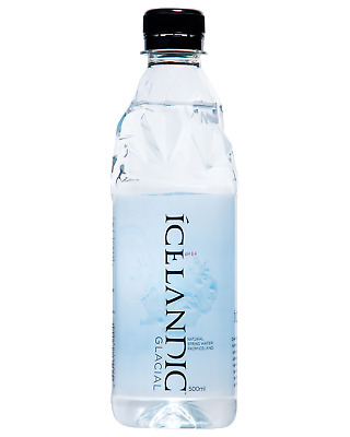 Icelandic Glacial 500mL Super Premium Spring Water pH 8.4 Other Drinks case of 2