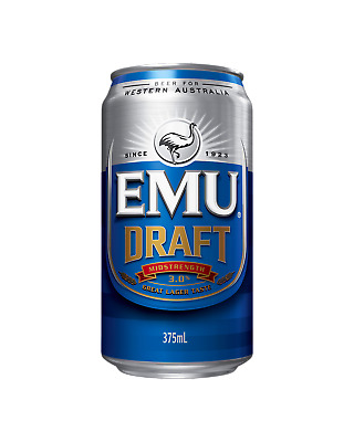 Emu Draft Cans 30 Block 375mL Beer case of 30