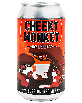 Cheeky Monkey Brewery Session Red Ale Cans 375mL Beer case of 16