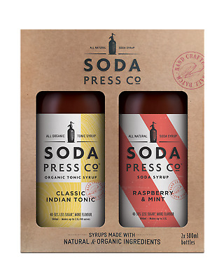 Soda Press Co Indian Tonic, Raspberry & Mint - 2x500mL Twin Set Other Drinks bot