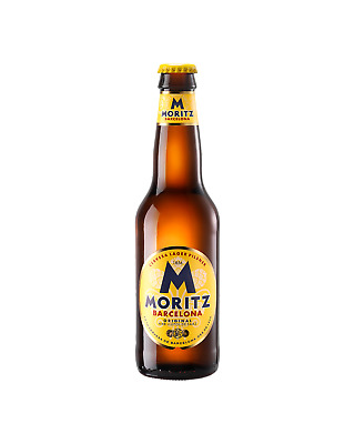 Moritz Lager Bottles 330ml Beer case of 24