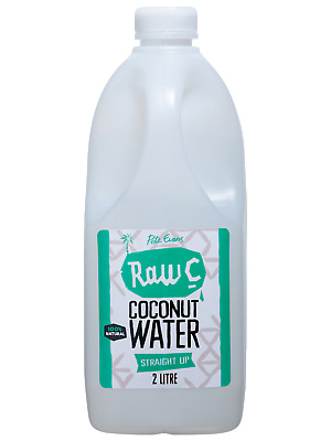 Raw C 2L Straight Up Coconut Water Other Drinks case of 4