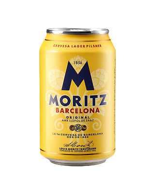 Moritz Lager Cans 330mL Beer case of 24