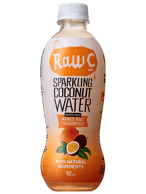 Raw C Sparkling Mango Passionfruit Coconut Water 400mL Other Drinks case of 12
