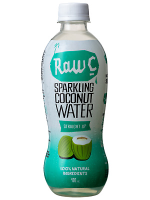 Raw C Sparkling Coconut Water 400mL Other Drinks case of 12