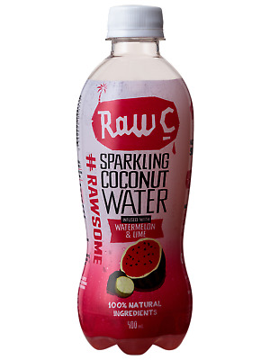 Raw C Sparkling Watermelon Lime Coconut Water 400mL Other Drinks case of 12
