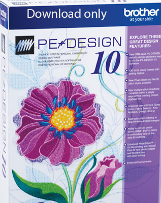 Brother PE Design 10 Embroidery Full Software & Free Gifts - Instant Delivery