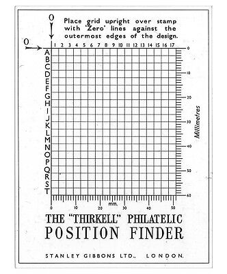 Stanley Gibbons Stamp Position Finder For Flaws Retouches Re-entries etc