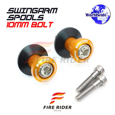Gold CNC Swingarm Spools 10MMKTM 2pcs For KTM 990 SuperDuke 05-16 11 12 13 14 15
