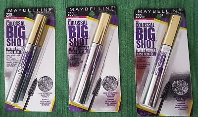 1a1961f6fc2 Maybelline New York The Colossal Big Shot Tinted Primer 230 Black Noir Lot  Of 3