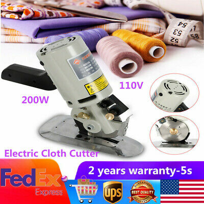"Electric Cloth Cutter 3.5"" Fabric Leather Cutting Machine Round Scissors & Blade"