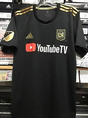 9896225e0c9 Adidas LAFC home Jersey #10 Carlos Vela Black And Gold Size Small Only