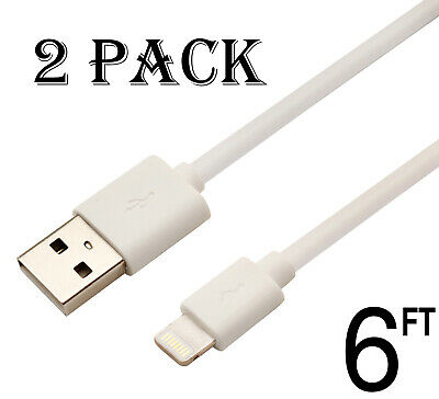 2 pack USB Cable Charger 6Ft 2M compatible with Lightning iPhone 7 8 6 5 X