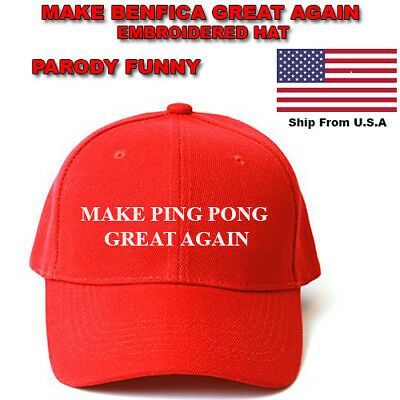 MAKE PING PONG GREAT AGAIN HAT Trump Inspired PARODY FUNNY EMBROIDERED