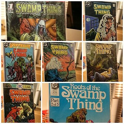 Swamp Thing Comic Bundle 18 33 50 55 91 futures end roots 2