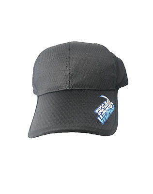 Tackle World Breathable Promotion Black Cap BRAND NEW   Ottos Tackle World 0d06947197e7
