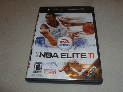 Playstation 3 Ps3 Xbox 360 Nba Elite 11 Case & Cover Art Only Rare Promo
