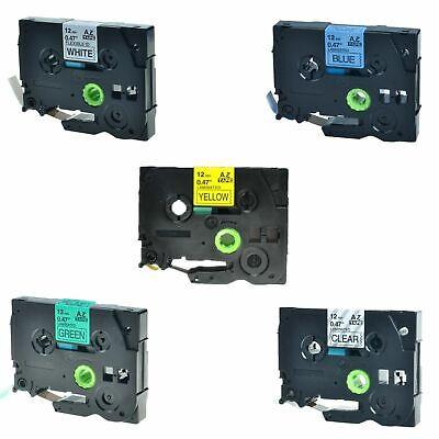 5PK TZ TZe 731 631 531 231 131 Label Tape For Brother P-Touch PT-2730 12mm x 8m