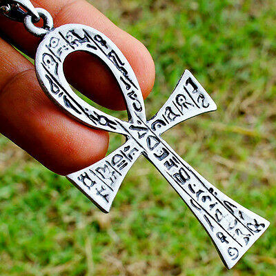 Ankh Egyptian GOD cross of life Pagan Paganism Wicca Occult Pendant Brass Pewter