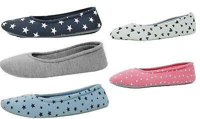 Ladies Soft Warm Comfy Cosy Home Kitchen Flat Slippers Mule Toe Size 4-8