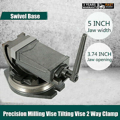 5 Inch Swivel Base & Angle Tilting 2 Way Clamp Vise Machine Accessory 360º  Set