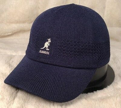"NWT KANGOL ""VENTAIR SPACE CAP"" Men s Fitted Hat Cap Baseball Cap Dark Blue  Small abffaac18a1"