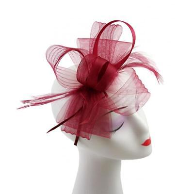 New Ladies Elegant Synthetic and Feathers Headband and Clip