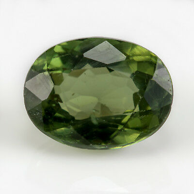 2.17ct Apatite. Deep forest green with an oval cut. Untreated and 100% natural.