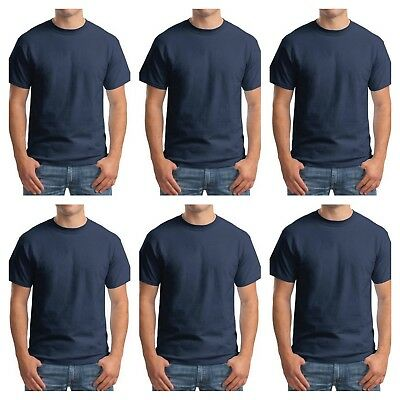 5XL Lot of 6 Hanes Beefy T Shirt 5180 Blank Tee Size S