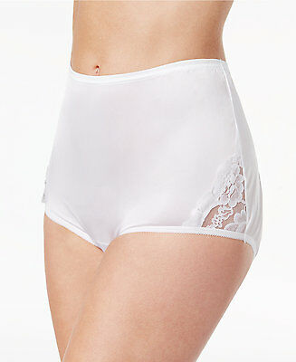 400314419d34 Vanity Fair Women's Perfectly Yours Lace Nouveau Brief Panty 13001 White 10  3XL