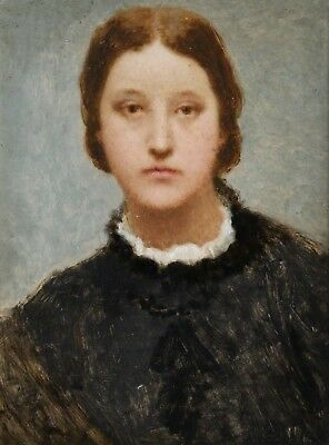 ALFRED DE CURZON (1820-1895) SIGNED FRENCH OIL ON PANEL PORTRAIT GIRL to £22,000