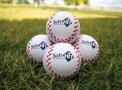 Soft HIT Baseball Softball Foam Training Ball Batting Practice- 12 Pack